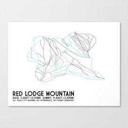 Red Lodge Mountain, MT - Minimalist Trail Art Canvas Print