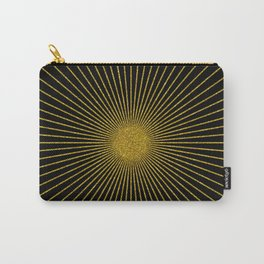 Gold glitter sun rays, gold glitter, gold black abstract geometric, gold sparkles Carry-All Pouch