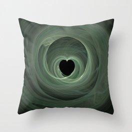 Valentine's Fractal II - Dark Throw Pillow