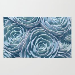 Blue and Green Succulent Rug