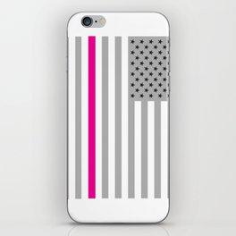 American Flag Pink Ribbon Breast Cancer Awareness iPhone Skin