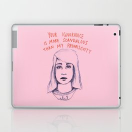Your ignorance is more scandalous than my promiscuity Laptop & iPad Skin