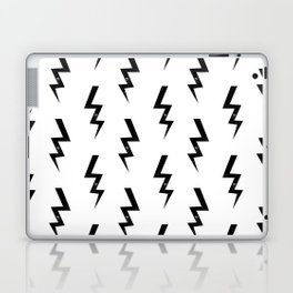 Bolts lightning bolt pattern black and white minimal cute patterned gifts Laptop & iPad Skin