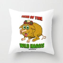 Friend of The Wild Haggis Throw Pillow
