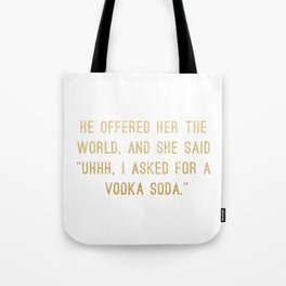 Vodka Soda Tote Bag