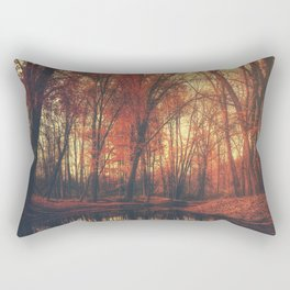 Where are you? Autumn Fall - Autumnal forest Rectangular Pillow