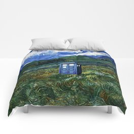 tardis in the countryside Comforters
