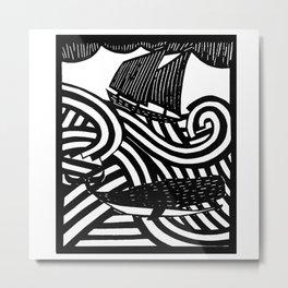Herman - Paper Cut Illustration. 2015 Metal Print