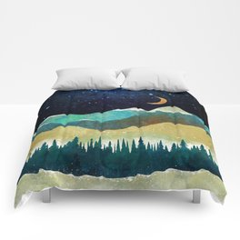 Snowy Night Comforters