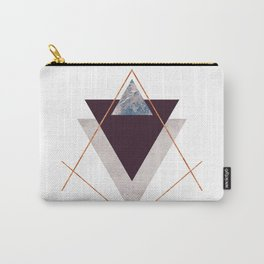PLUM COPPER AND BLUSH GEOMETRIC Carry-All Pouch
