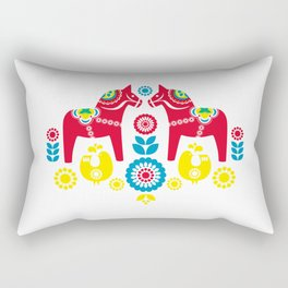 Swedish Dalahäst Rectangular Pillow