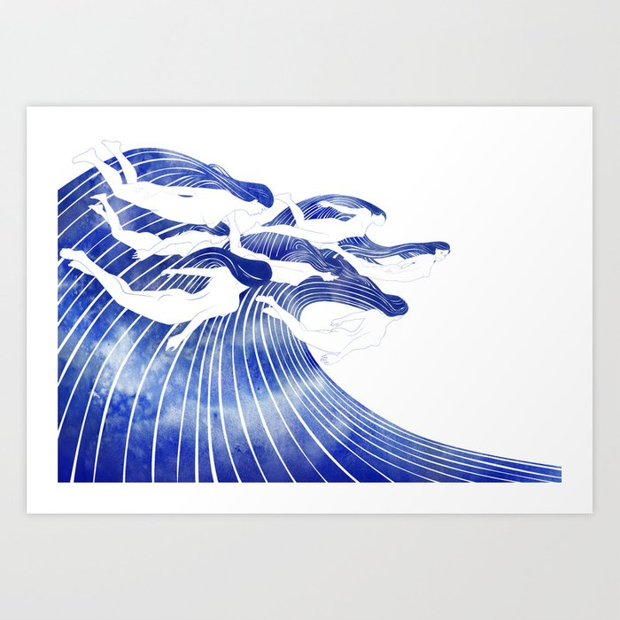 Seven Nereids Art Print