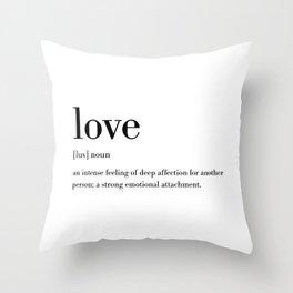 Love Definition Throw Pillow