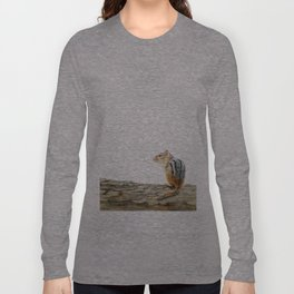 Little Chip - a painting of a Chipmunk by Teresa Thompson Long Sleeve T-shirt