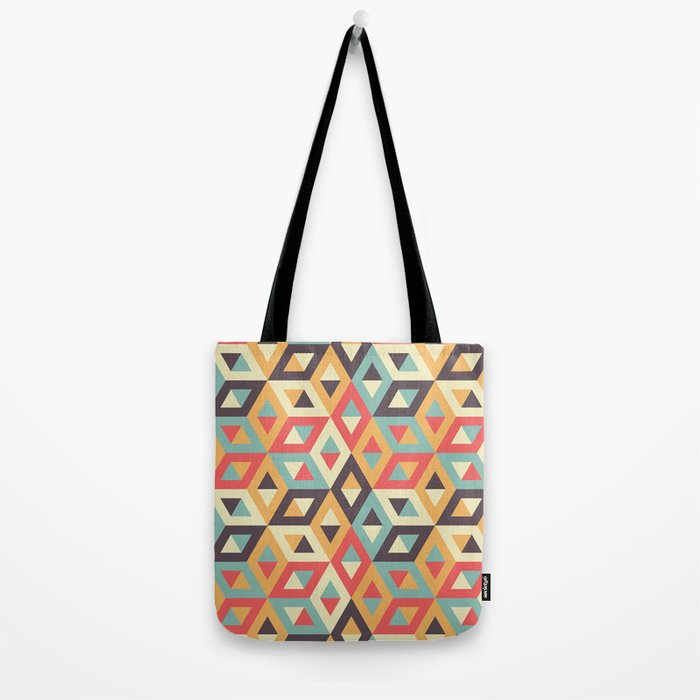 Pastel Geometric Pattern Tote Bag