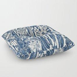Indigo cacti Floor Pillow