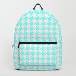 Aquamarine Houndstooth Backpack