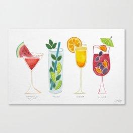 Summer Cocktails Canvas Print
