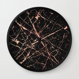 Copper Splatter 091 Wall Clock