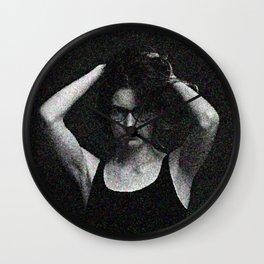 Antonina in black and white Wall Clock