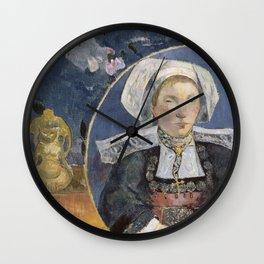 La Belle Angele by Paul Gauguin Wall Clock