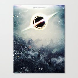 Interstellar Inspired Fictional Sci-Fi Teaser Movie Poster Canvas Print