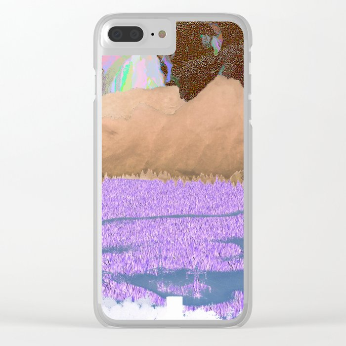 landscape collage #06 Clear iPhone Case
