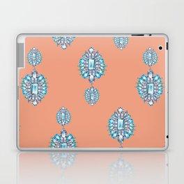 Jewelbox: Aquamarine Brooch on Coral Spice Laptop & iPad Skin