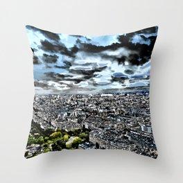Paris - Blick vom Eiffelturm 1 Throw Pillow