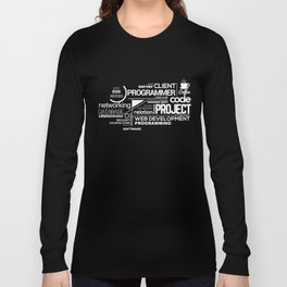 Programmer: Typography Programming 2 Long Sleeve T-shirt