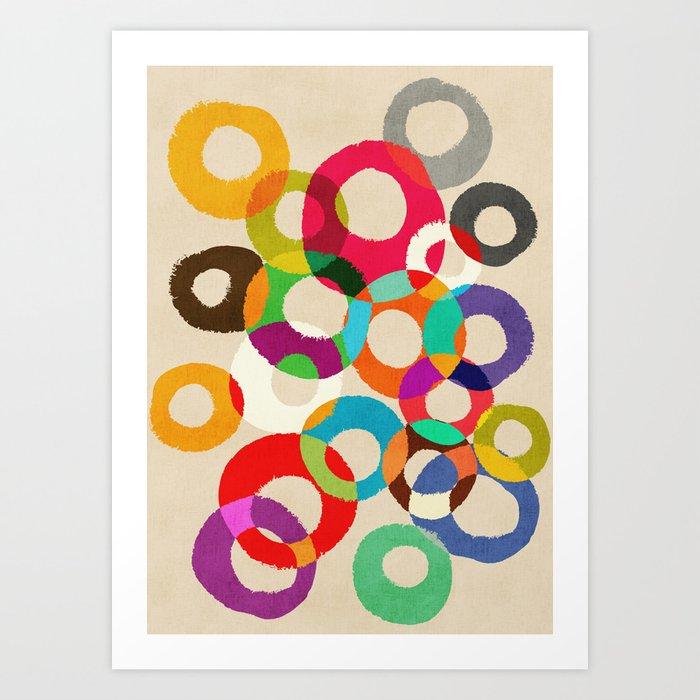 Loop Hoop Art Print