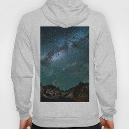 Milky Way over mountain range Hoody