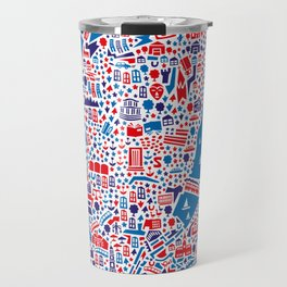 Hamburg City Map Poster Travel Mug