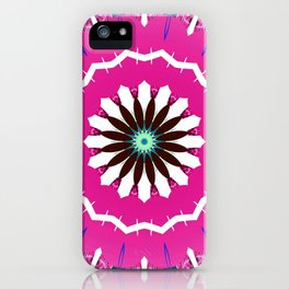 Bright Pink and White Flower iPhone Case