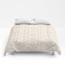 Golden Geo Stars Comforters