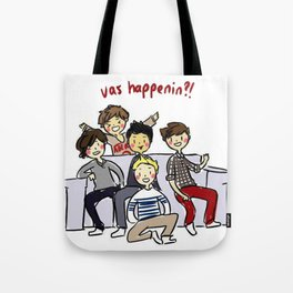 One Direction 'Vas Happenin' Cartoon Tote Bag