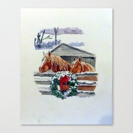 Christmas Ponies Canvas Print