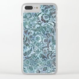 Watercolor Damask Pattern 08 Clear iPhone Case