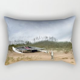 Beached Catamaran Rectangular Pillow