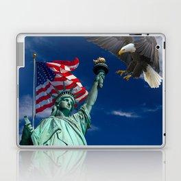 Bald Eagle a Lady Liberty Laptop & iPad Skin