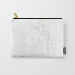 Minimal Vermeer Carry-All Pouch