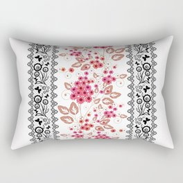 Red flowers . Rectangular Pillow