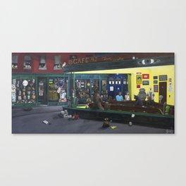Pop Culture Geeky Fandom Nighthawks Canvas Print