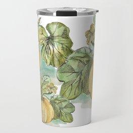 Antique Botanical Sketch Pumpkin Travel Mug