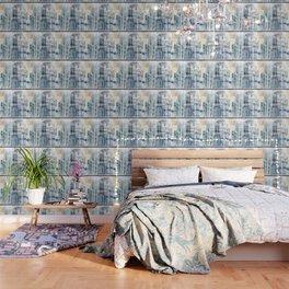 Blue City Scape Wallpaper