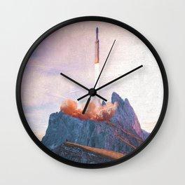 Space X Mountain Wall Clock