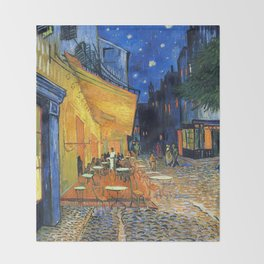 Cafe Terrace, (1888) Throw Blanket