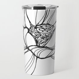 Lotus Flower (a continuous line drawing) Travel Mug