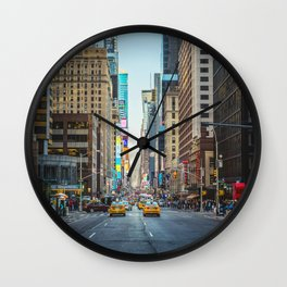 Sunset on 7th Avenue Wall Clock