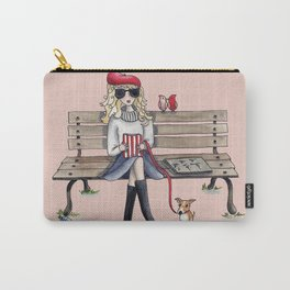 Margaux and her dog at the park Carry-All Pouch